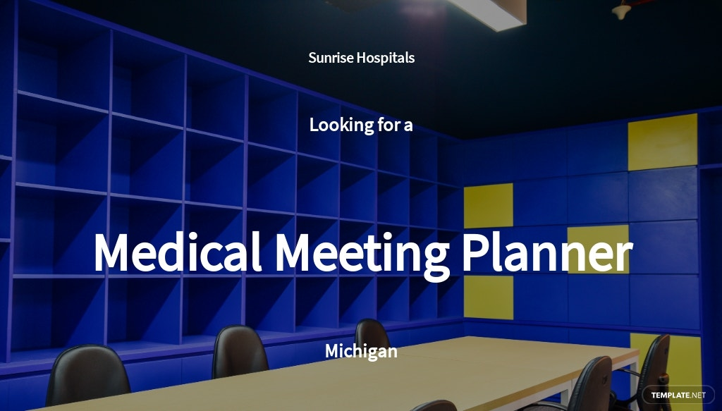 Medical Meeting Planner Job Ad/Description Template