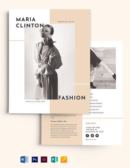 Fashion Influencer Media Kit Template