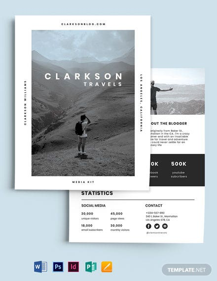 Travel Influencer Media Kit Template