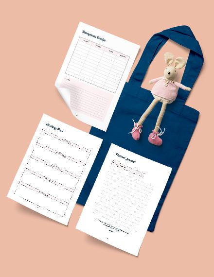 Printable Wedding Budget Planner