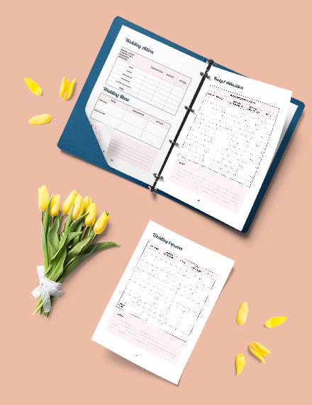 Wedding Budget Planner Example