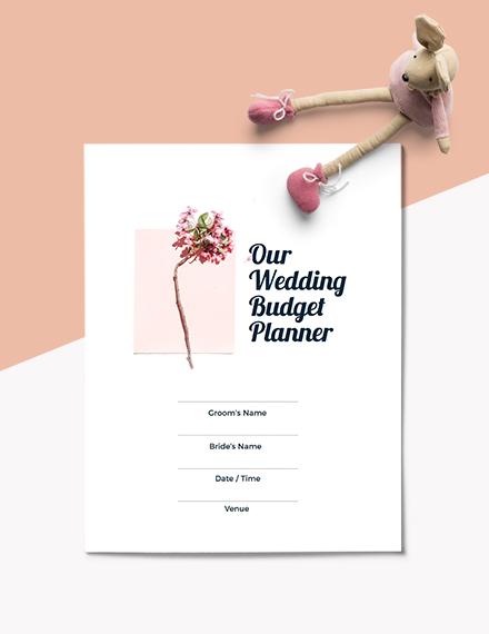 Wedding Budget Planner Format
