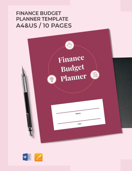 Finance Budget Planner Template