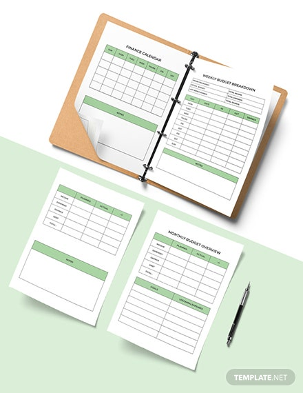 Personal Budget Planner Template Download