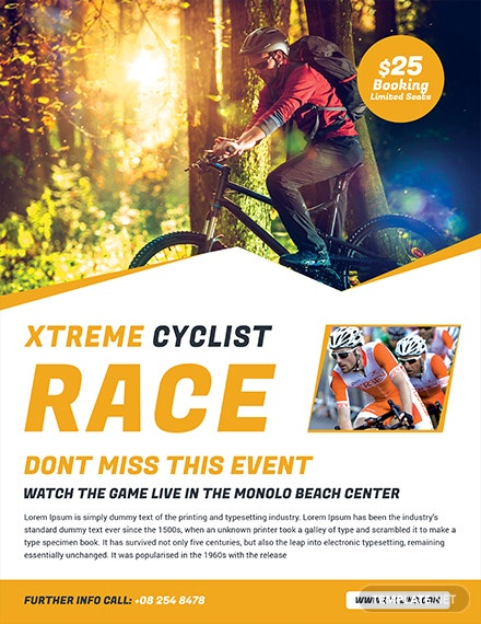 Free Bicycle Racing Flyer Template