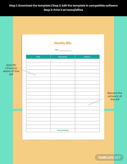 Yearly Budget Planner template Download