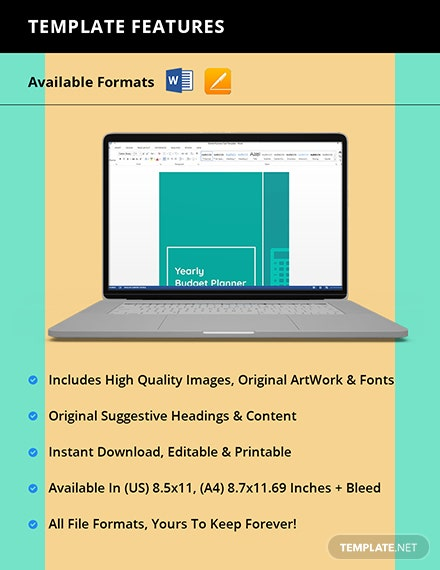 Yearly Budget Planner Template [Free Pages] - Word, Apple Pages