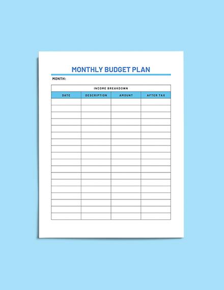 Sample Household Budget Planner download