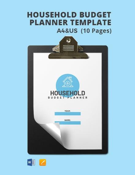 Sample Household Budget Planner
