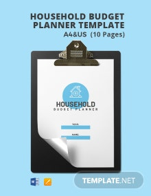Free Sample Household Budget Planner Template