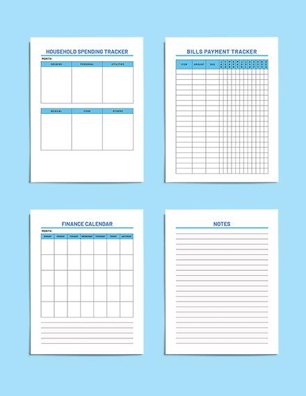 printable Sample Household Budget Planner