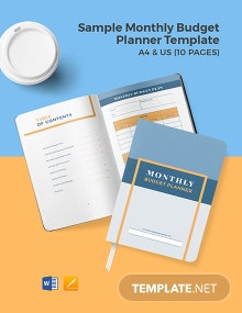 Free Sample Monthly Budget Planner Template