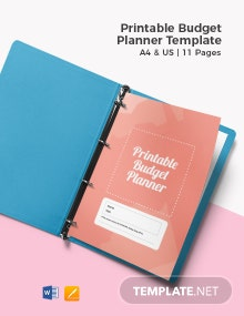 Free Printable Budget Planner Template