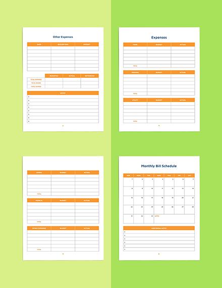Blank Budget Planner Template Sample