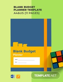 Free Blank Budget Planner Template