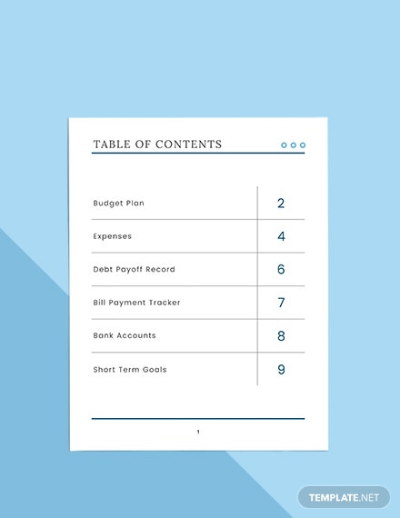 Basic Budget Planner Format