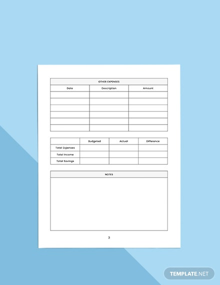 Basic Budget Planner Sample