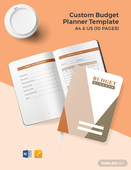 Free Custom Budget Planner Template