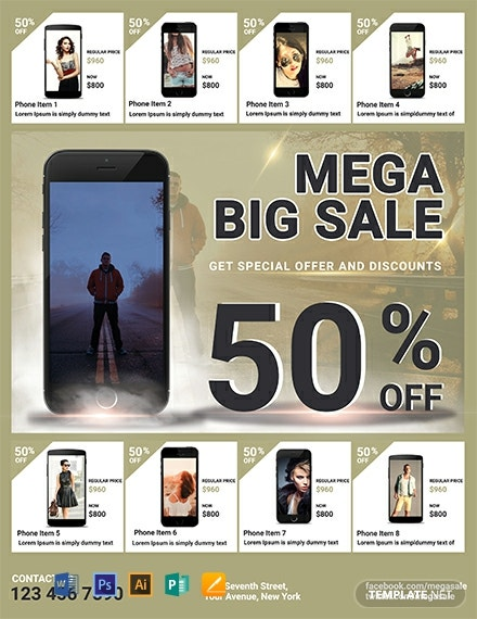 Free Mega Sale Flyer Template