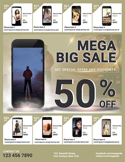 Free Mega Sale Flyer Template