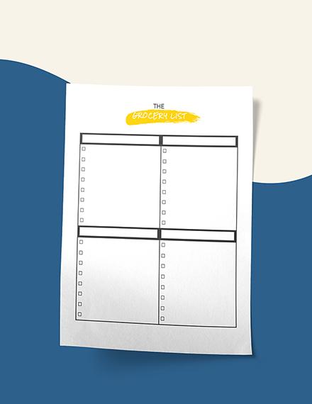 Sample Daily Menu Planner
