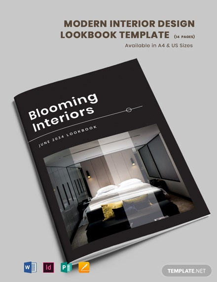 Free Modern Interior Design Lookbook Template