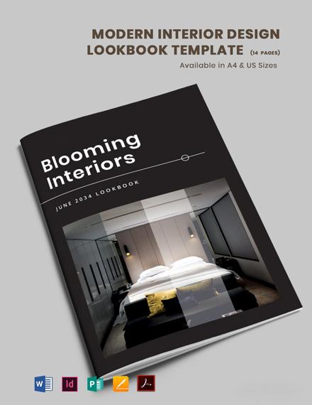 Free Modern Interior Design Lookbook Template