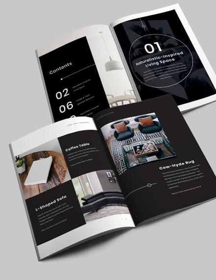 Modern Interior Design Lookbook Template