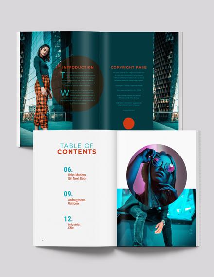 Sample Modern Lookbook