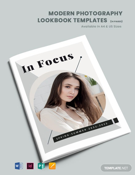 Free Modern Photography Lookbook Template