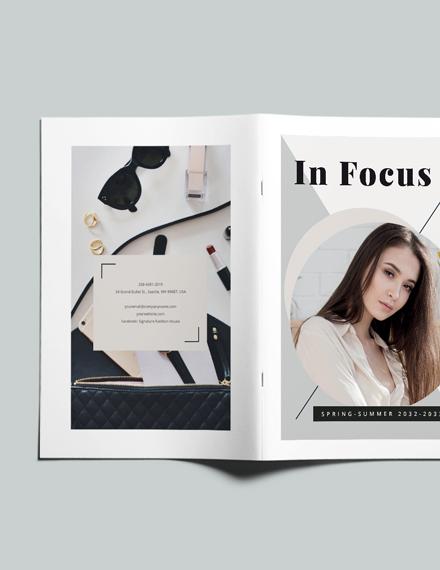 Sample Modern Photography Lookbook