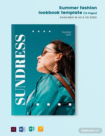Summer Fashion lookbook Template