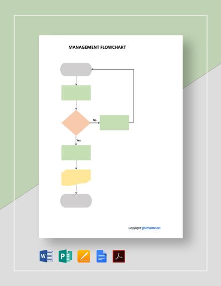 Free Blank Management Flowchart Template