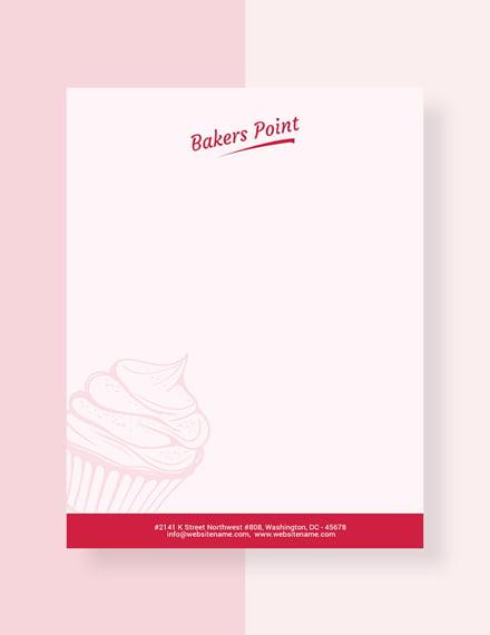 Bakery Letterhead Template
