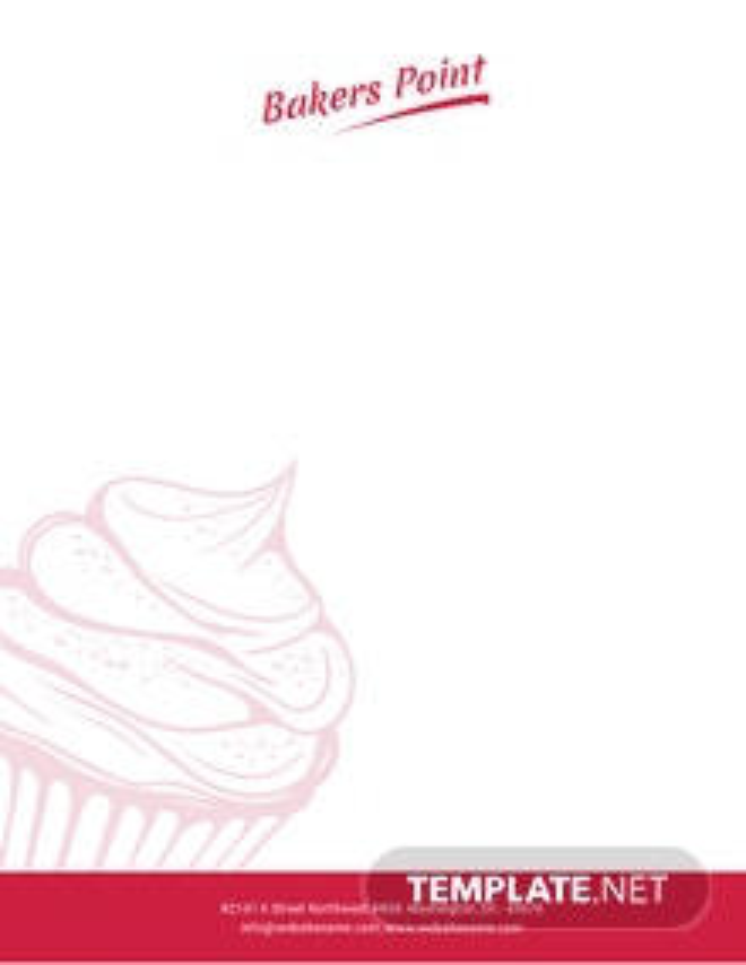 Free Bakery Letterhead Template
