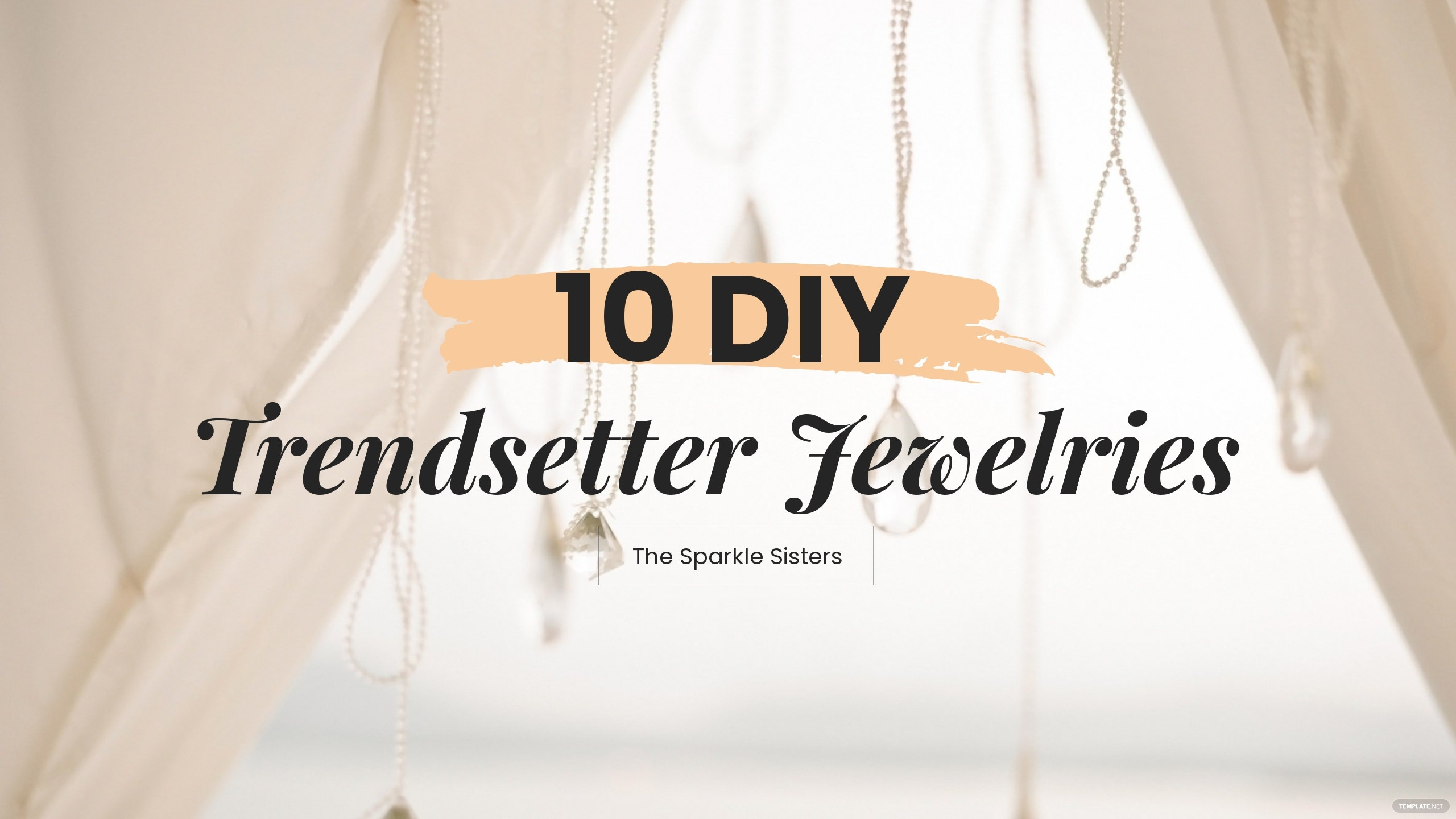 Free Jewelry YouTube Cover Template