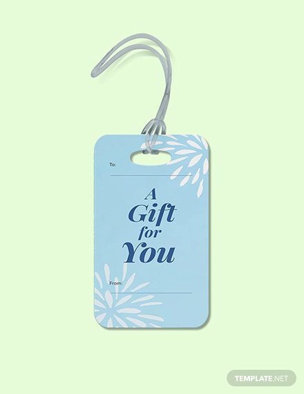 Free Blank Gift Tag Template
