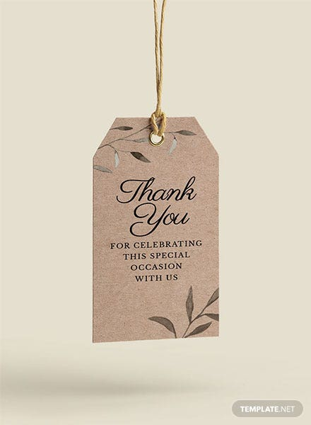 Sample Favor Tag Template