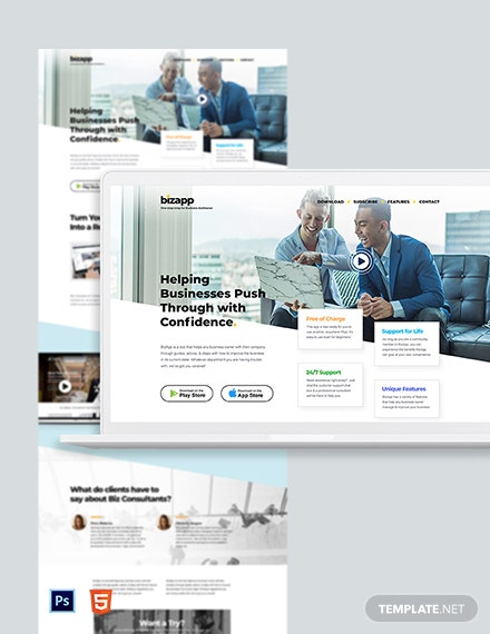 Consulting App Landing Page Template
