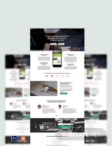 Education App Landing Page Template