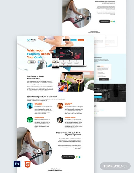 Fitness App Landing Page Template