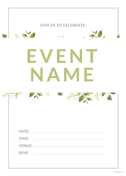 Blank Event Invitation Template
