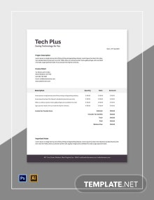 Free Startup Business Invoice Template