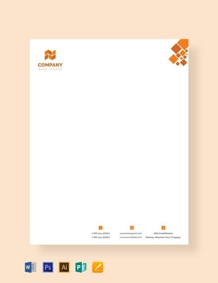 Free Modern Letterhead Template