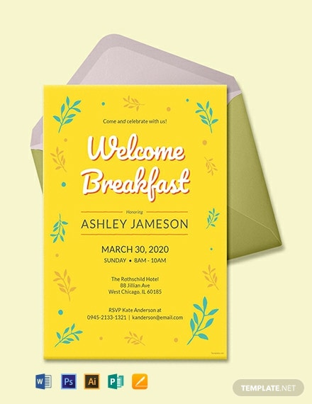 Free Welcome Breakfast Invitation Template