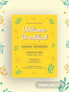 Welcome Breakfast Invitation Template