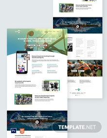 Sports App Landing Page Template