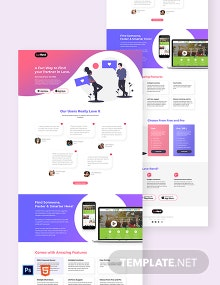 Dating App Landing Page Template