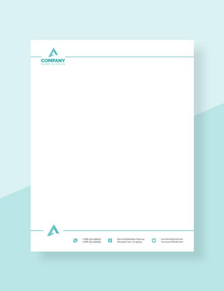 Free Corporate Letterhead Format