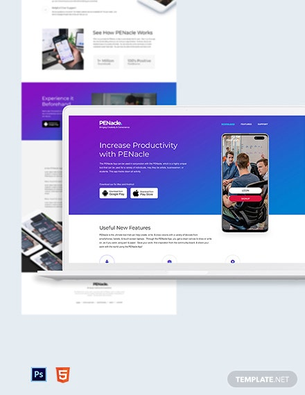 Product App Landing Page Template